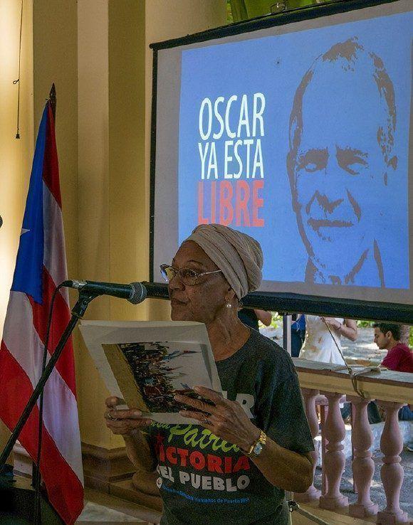 El ICAP acompañó a lo largo de estos largos años las luchas de Puerto Rico por la libertad de Oscar López. Foto: Ismael Francisco/ Cubadebate.