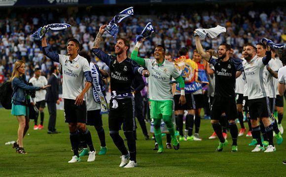 El Real Madrid no ganaba la Liga desde el 2012. Foto: Reuters.