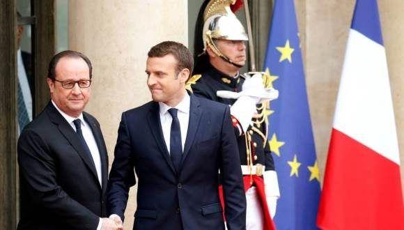 Emmanuel Macron asume como presidente de Francia. Foto: BBC.
