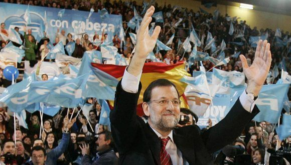 Mariano Rajy en un acto de campaña para las elecciones de 2008. Foto: Reuters.