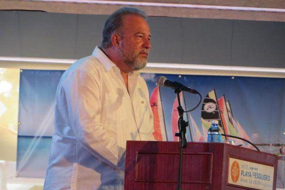 Manuel Marrero, Ministro  de Turismo habla en la inauguración de FITCuba 2017. Foto: Prensa Latina