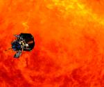 Captura de pantalla de una animación de la NASA mostrando la aproximación de la sonda 'Solar Probe Plus' al Sol. Foto: NASA.