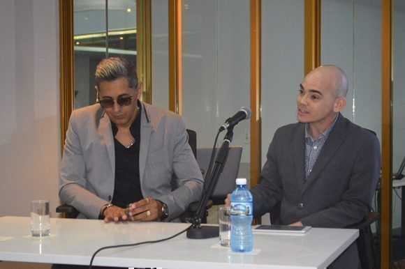 2.Emotiva fueron también las palabras de Ernesto Alemán quien tuvo a su cargo el prólogo del libro. Foto: Marianela Dufflar/ Cubadebate.