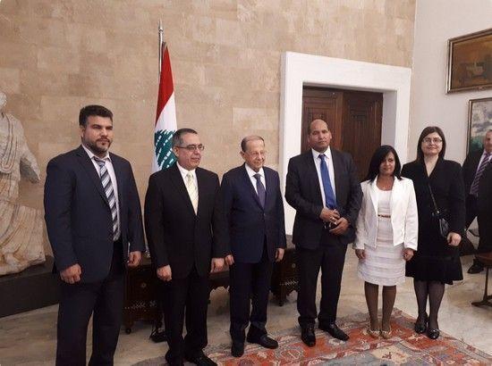 Recibió presidente del Líbano a vicecanciller cubano