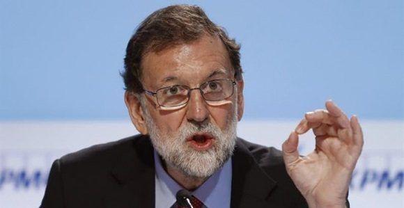 El presidente del Gobierno, Mariano Rajoy, durante su intervención en el Círculo de Economía de Sitges. EFE/Andreu Dalmau.