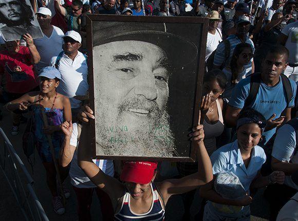 Desfile del 1ro de Mayo de 2017 en La Habana.Foto: Irene Pérez/ Cubadebate.
