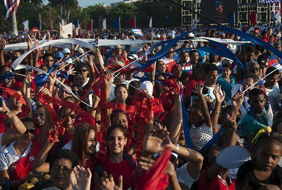 el movimiento obrero cubano expresó su solidaridad con los pueblos que en el mundo luchan contra las políticas discriminatorias. Foto: Irene Pérez/ Cubadebate.