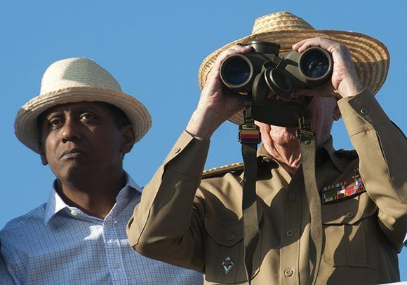 Danny Faure, presidente de Seychelles junto al presidente cubano Raúl Castro. Foto: Irene Pérez/ Cubadebate.