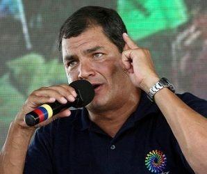 El presidente ecuatoriano, Rafael Correa. Foto: La Hora.