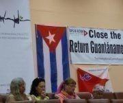 El cierre de la prisión instalada en la base naval de Guantánamo y la devolución del territorio ocupado ilegalmente por el enclave, han contado con el respaldo total de los asistentes al seminario. Foto: Jorge Luis Merencio Cautín/ Granma.