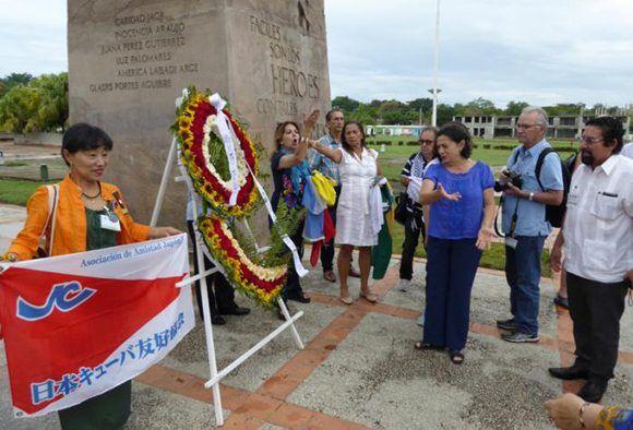 Homenaje a Mariana Grajales. Foto: Jorge Luis Merencio Cautín/ Granma.
