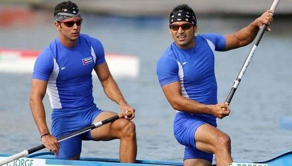 Los cubanos Fernando Dayan Jorge Enrique y Serguey Torres Madrigal, llegan sextos en la final A del C2 a 1000 m, en los XXXI Juegos Olímpicos de Río de Janeiro, el 20 de agosto de 2016. ACN FOTO/ Roberto MOREJÓN RODRÍGUEZ/ JIT/ rrcc