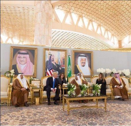 Trump con el Rey de Arabia Saudita. Foto: Tomada de la cuenta de Twitter de Donald Trump