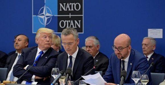 El presidente de EEUU ha ofrecido un discurso cargado de reproches hacia los países de la Alianza y ha eludido cualquier compromiso con el pacto de defensa común.