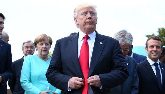 Donald Trump en la Cumbre del G-7. Foto: Reuters.