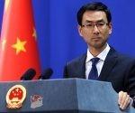 El portavoz del Ministerio de Relaciones Exteriores de China, Geng Shuang, en conferencia de prensa. Foto: FMPRC.