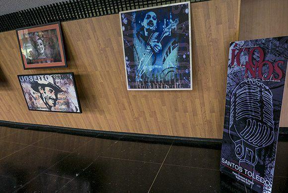 Exposicion, Iconos de la Cancion CUbana de Santos Toledo. Foto: Ismael Francisco/Cubadebate.