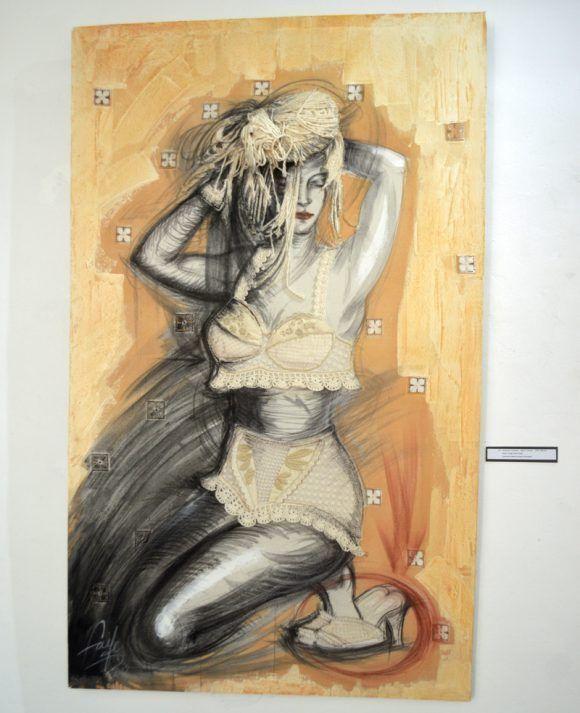 """""""Atracción femenil"""" Mixta/Lienzo. Lencería: Denia Lozano. Foto. Marianela Dufflar  / Cubadebate"""