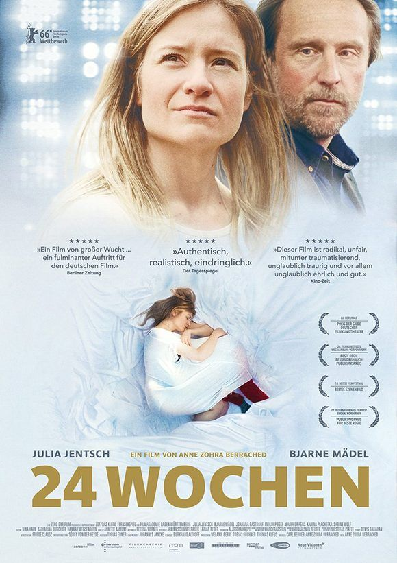 """La cinta """"24 semanas"""", de Anne Zohra, obtuvo premios en festivales de Berlín y Oostende, así como la Lola de Plata al filme más sobresaliente en 2016 en Alemania."""