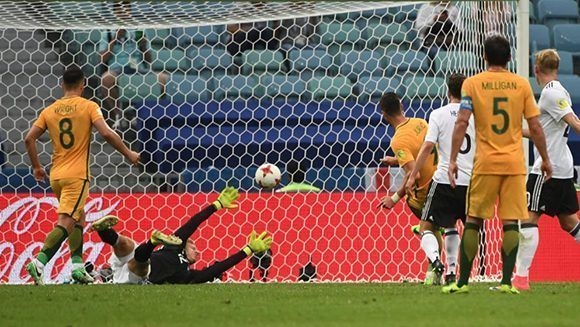Alemania encaja el segundo gol. Foto: AFP.