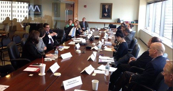 Embajador cubano comparte con empresarios de Indiana, EE.UU. Foto: Twitter de José Ramón Cabañas