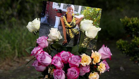 Amigos recordaron a Charleena Lyles. Foto: Ken Lambert/ The Seattle Times.