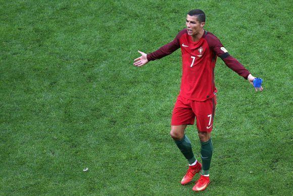 Cristiano Ronaldo al término del partido ante México. Foto: AFP.