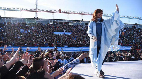 La expresidenta había presentado esta semana el Frente Unidad Ciudadana. Foto: Página 12.