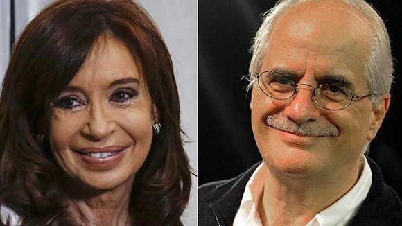 La expresidenta Cristina Fernández de Kirchner y el canciller Jorge Taina serán compañeros de boleta. Foto: Página 12.