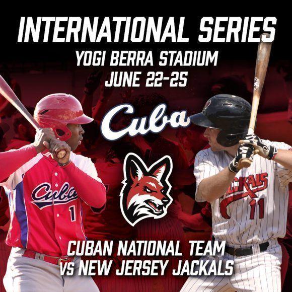 Cartel que anunciaba la subserie entre ambos equipos. Foto tomada de la página oficial de los Chacales de New Jersey.