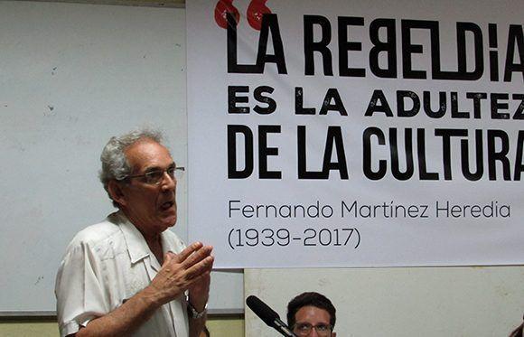 Luis Suarez intervino como parte del debate generado entre le público y habló sobre sus vínculos con Fernando. Foto: Cinthya García Casañas/ Cubadebate.