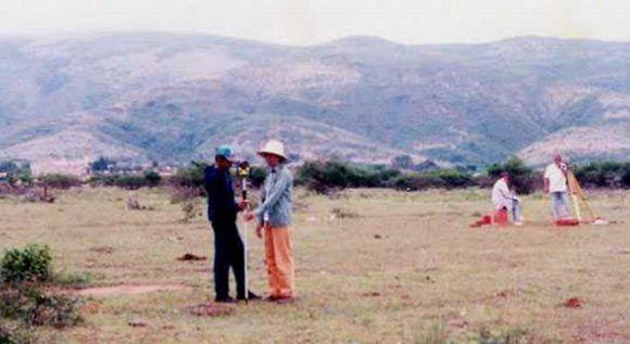 El equipo de expertos cubanos empleó las más disímiles técnicas para localizar la fosa de enterramiento en Vallegrande.