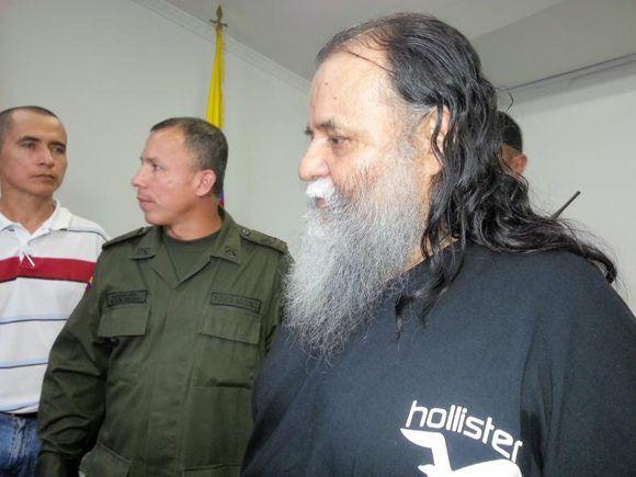 """El exguerrilero de las FARC-EP, Ely Mejía Mendoza """"Martín Sombra"""". recibió la libertad condicional. Foto: ColPrensa."""
