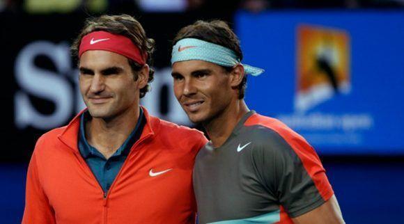 Federer y Nadal. Foto: Reuters.