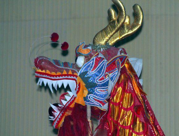 No hay nada más chino, que el dragón. Foto: Daylén Vega / Cubadebate