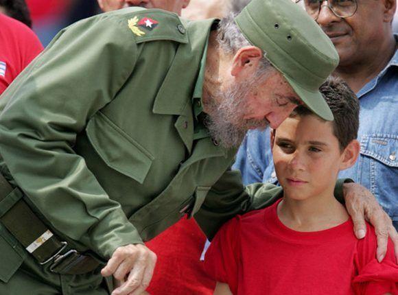 Fidel y el niño Elián.