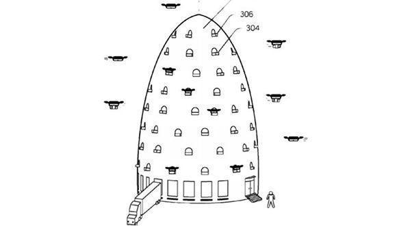 Pie de foto: La colmena que ha patentado Amazon. /Amazon