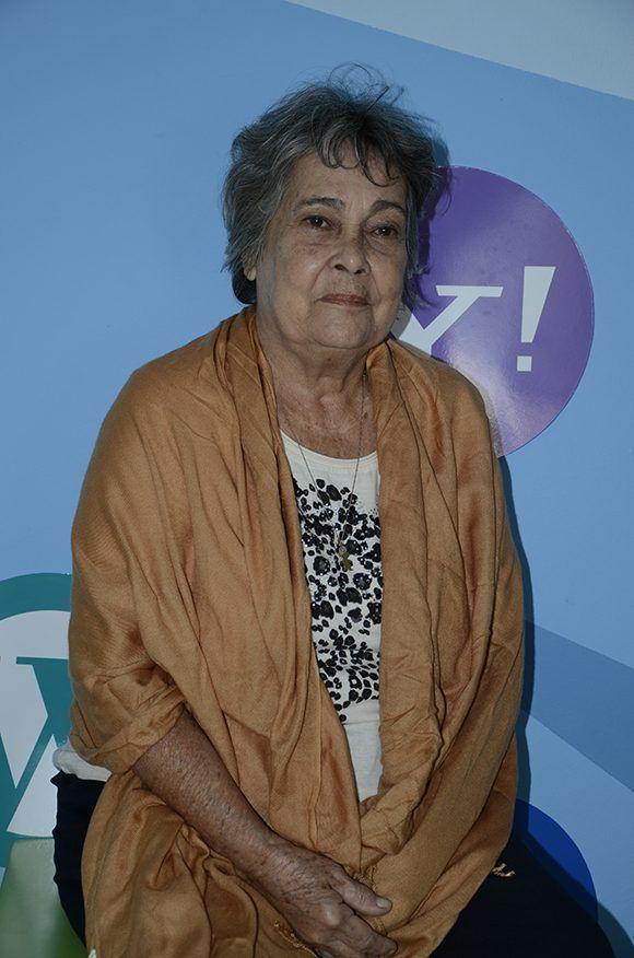 Enma Fernández en la Facultad de Comunicación de la Universidad de La Habana. Foto: FCOM.