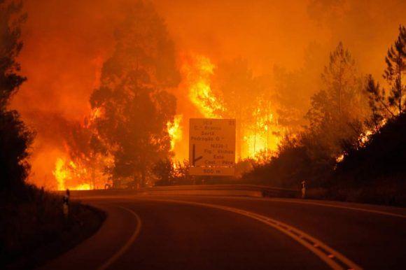 Incendio en Portugal. Foto tomada de 20 Minutos.