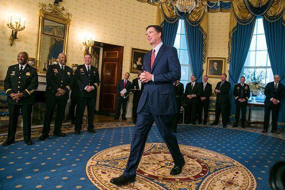 James Comey fue despedido del FBI sin previo aviso, se enteró del anunció por la teelvisión. Foto: Al Drago/ The New York Times.