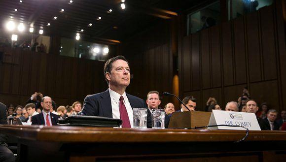 Durante su declaración ante el Congreso, James Comey, exdirector del FBI, negó que Trump le hubiera presionado para abandonar las investigaciones sobre Rusia y las elecciones en Estados Unidos. Al Drago/ The New York Times.