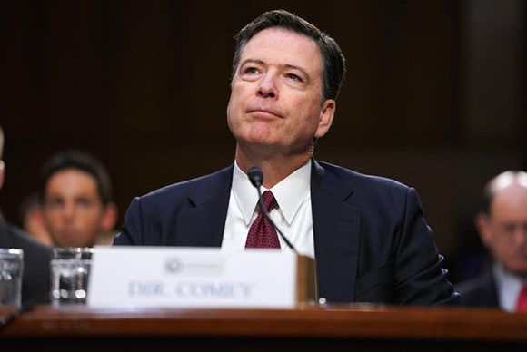 James Comey, el exdirector del FBI, durante su declaración ante el Congreso de los Estados Unidos. Foto: Doug Mills/ The New York Times.