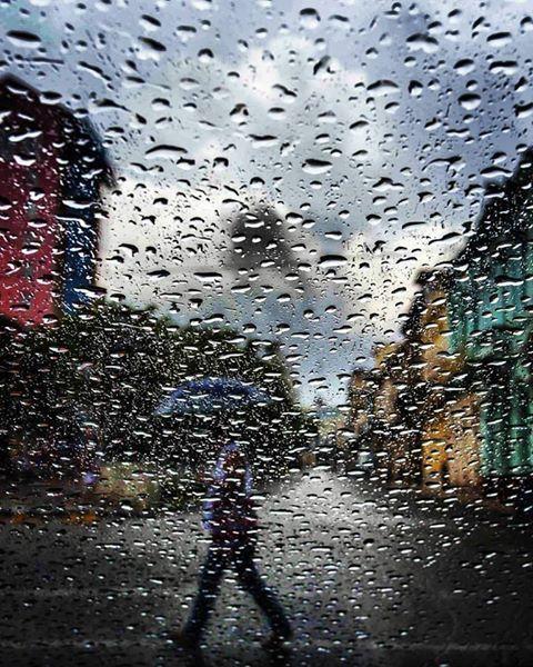 La lluvia cae sobre el Prado. Foto: Desmond Boylan (Tomada de su pagina de Facebook)
