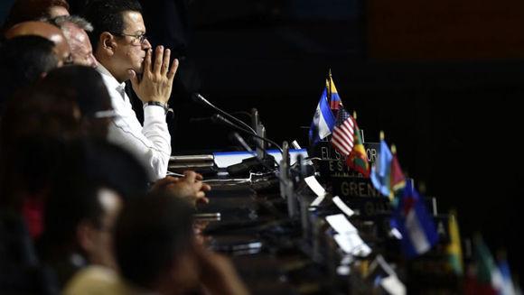 Reunión de la OEA en Cancún. Foto: Pedro Pardo/ AFP.
