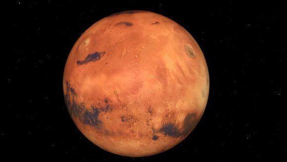 Imagen del planeta Marte generada en 3D. Foto tomada de Telemundo,