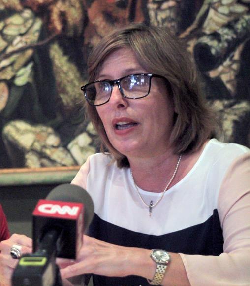 Presidenta del Consejo Nacional de Patrimonio Cultural en intercambio con la prensa. Foto: Daylén Vega/ Cubadebate