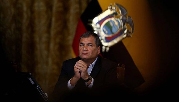 Rafael Correa, expresidente de Ecuador. Foto: Reuters.