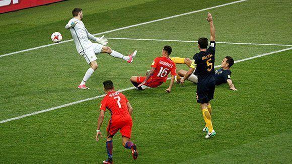 Rodríguez empató para Chile. Foto tomada de Marca.