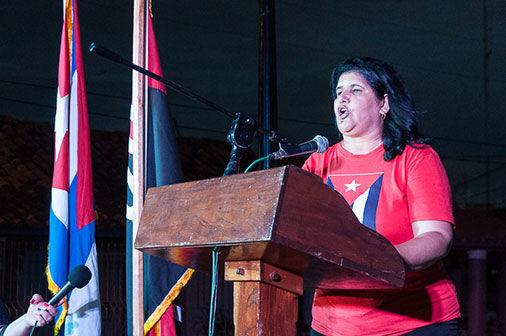 La Primera Secretaria del PCC en Pinar del Rio Gladys Martínez Verdecia. Foto: Periódico Guerrillero