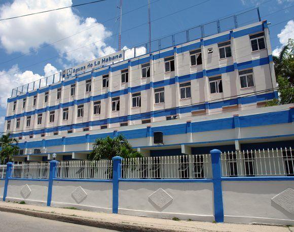 Sede de la empresa Aguas de La Habana. Foto: Archivo.